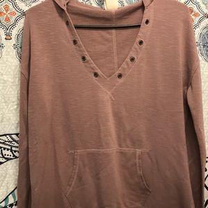 Cute long sleeve comfy hooded shirt